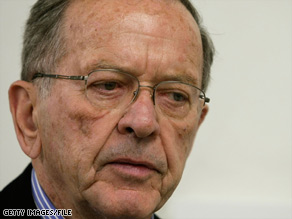 Former Sen. Ted Stevens, 85, of Alaska lost his re-election bid in November.