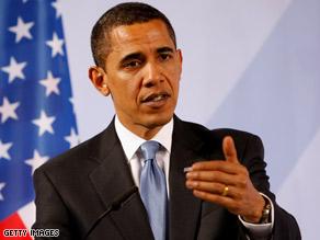 President Obama talks to media in Baden Baden, Germany, Friday.