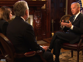 CNN's Gloria Borger interviews Vice President Joe Biden on Tuesday.