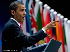 President Obama speaks during a news conference after the G-20 summit in London, England, on April 2.