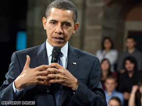 President Obama spoke with students at a town hall meeting in Istanbul, Turkey, on Tuesday.