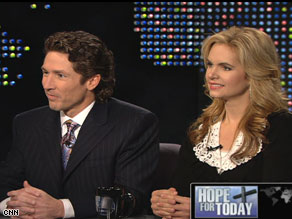 "Joel and Victoria Osteen appear on ""Larry King Live"" Tuesday night."