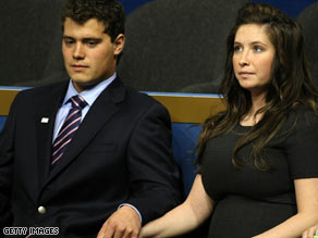 Johnston is the ex-fiance of Bristol Palin, the Alaska governor's daughter.