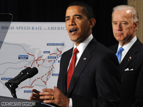 President Obama, with Vice President Joe Biden, called for clean efficient travel Thursday.