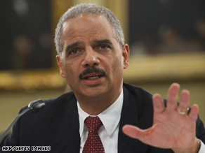 Attorney General Eric Holder testifies before a U.S. House subcommittee on Thursday.