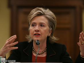 "Secretary of State Hillary Clinton tells other countries that the U.S. is ""back in the game"" on global warming."