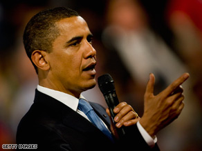 Obama marked his 100th day in office Wednesday with a town hall meeting and later a news conference.