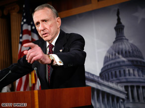 Sen. Arlen Specter &quot;didn't jump, he was pushed,&quot; observes one former GOP lawmaker of the party switch.