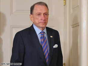 Sen. Arlen Specter returned $225K to Republican donors after changing his party affiliation in April.