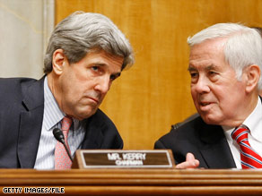 The bill to boost non-military aid to Pakistan was introduced by Sens. John Kerry, left, and Dick Lugar.