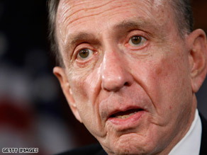 Arlen Specter called fellow Democrat and Joe Sestak a 'flagrant hypocrite' Thursday.