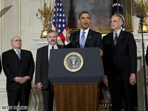 President Obama discussed his health care goals at the White House on Monday.