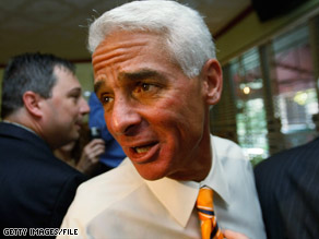  Hours after announcing plans to run for the Senate, Gov. Charlie Crist got the support of top Republicans.