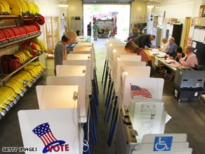 Turnout at polling centers in California was relatively sparse for Tuesday's special election.