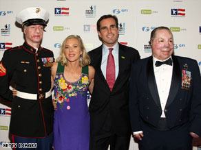 "Lee and Bob Woodruff, center, attend ""Stand Up For Heroes: A Benefit for the Bob Woodruff Foundation."""