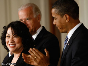 Sonia Sotomayor says the nomination is the &quot;most humbling honor &quot; of her life.
