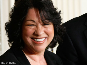Judge Sonia Sotomayor is the first Hispanic person to serve on the Supreme Court.