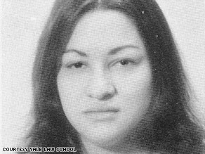 Sonia Sotomayor is pictured in the 1978-79 yearbook of Yale University Law School.