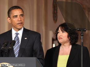 President Obama on Tuesday introduces Judge Sonia Sotomayor as his choice for the U.S. Supreme Court.