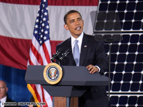 President Obama said Wednesday that the country is already seeing results from his economic stimulus plan.