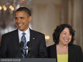 An Obama administration team will work to get Sonia Sotomayor's Supreme Court nomination confirmed.
