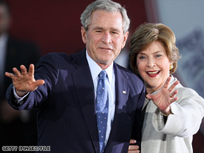 "Laura Bush's ""patience and her enthusiasm ... made our marriage a really good marriage,"" President Bush said."