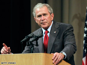 In a Michigan speech, Bush spoke out about his administration's efforts to combat terrorism.