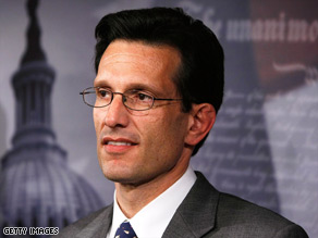 House GOP Minority Whip Eric Cantor has been an outspoken critic of Democratic budget proposals.
