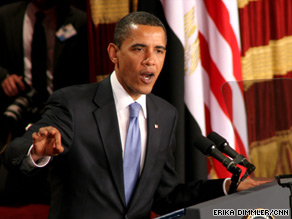 President Obama urges a new chapter in ties between the U.S. and Muslims in a speech Thursday in Cairo, Egypt.