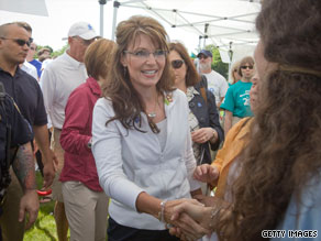 Gov. Sarah Palin attends an autism awareness fundraiser Sunday in Purchase, New York.