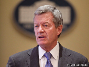 Sen. Max Baucus says the deal will reduce $80 billion in Medicare drug costs for the elderly over the next 10 years.