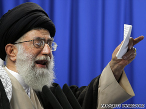 Iran's supreme leader, Ayatollah Ali Khamenei, calls for an end to protests last week at Tehran University.