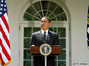 President Obama makes the case for energy legislation Thursday in the White House Rose Garden.
