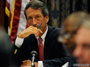 "Gov. Mark Sanford has said it's better for him to keep his governorship to ""learn lessons."""