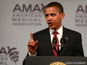 A slim majority of people surveyed support President Obama's health care reform proposal.