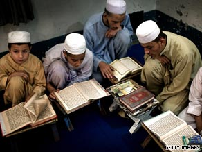 The new U.S. envoy vows to connect with Muslims on the local level. Here students study in a madrassa in Pakistan.