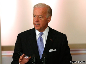 Vice President Joe Biden warns the federal government can't &quot;sustain this trajectory of health care costs.&quot;