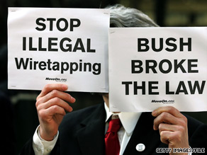 Bush wiretapping protests