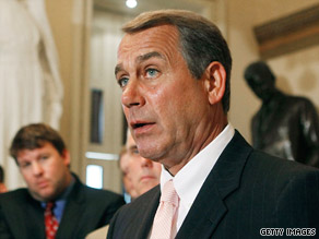 House Minority Leader John Boehner has been a vocal critic of President Obama's economic stimulus plan.