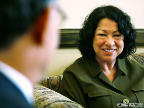Judge Sonia Sotomayor meets with Sen. Al Franken, D-Minnesota, in Washington last week.