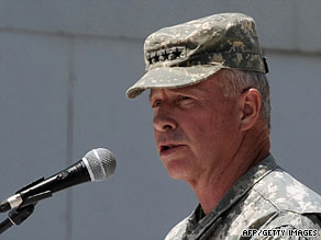 Gen. David McKiernan was ousted as the commander of NATO forces in Afghanistan after nearly a year on the  job.