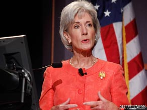 Health Secretary Kathleeen Sebelius said it may be necessary to tax the wealthy to pay for health care reform.