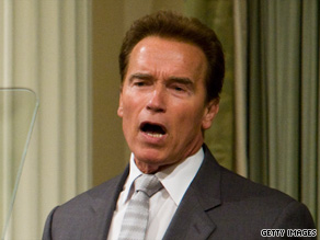 Gov. Arnold Schwarzenegger addresses California lawmakers on June 2.