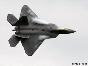 The Senate voted Tuesday to cut $1.75 billion for an additional seven F-22s from the fiscal year 2010 budget.