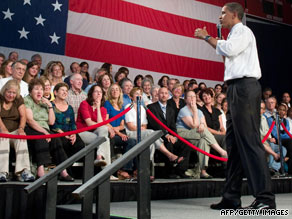 President Obama tells audience in Shaker Heights, Ohio, on Thursday that current system breeds wasteful spending.