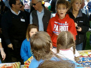 Alaska Gov. Sarah Palin visits her hometown of Wasilla two days before stepping down from her post.