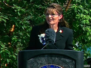 Sarah Palin told a crowd in Fairbanks that she accomplished what she had promised as governor.