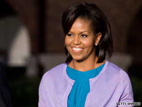 First lady Michelle Obama will spotlight the success of a stimulus-funded health clinic in Virginia.