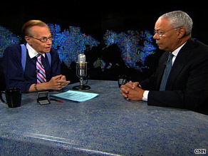 Former Secretary of State Colin Powell told Larry King that    he has been subject to racial profiling.