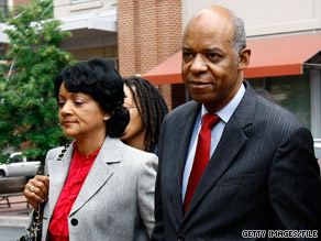Ex- U.S. Rep. William Jefferson and his wife, Andrea, arrive at court last month in Alexandria, Virginia.